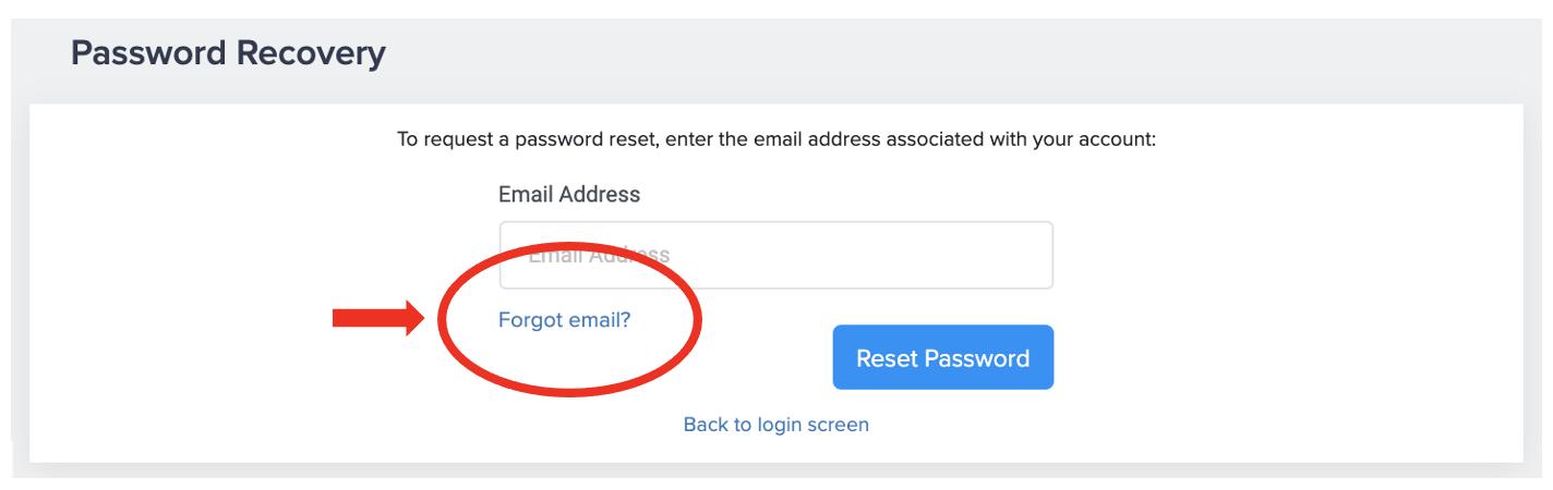 I forgot my email address to log into merchant portal